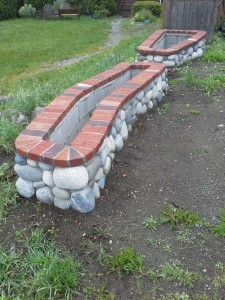 river rock planters