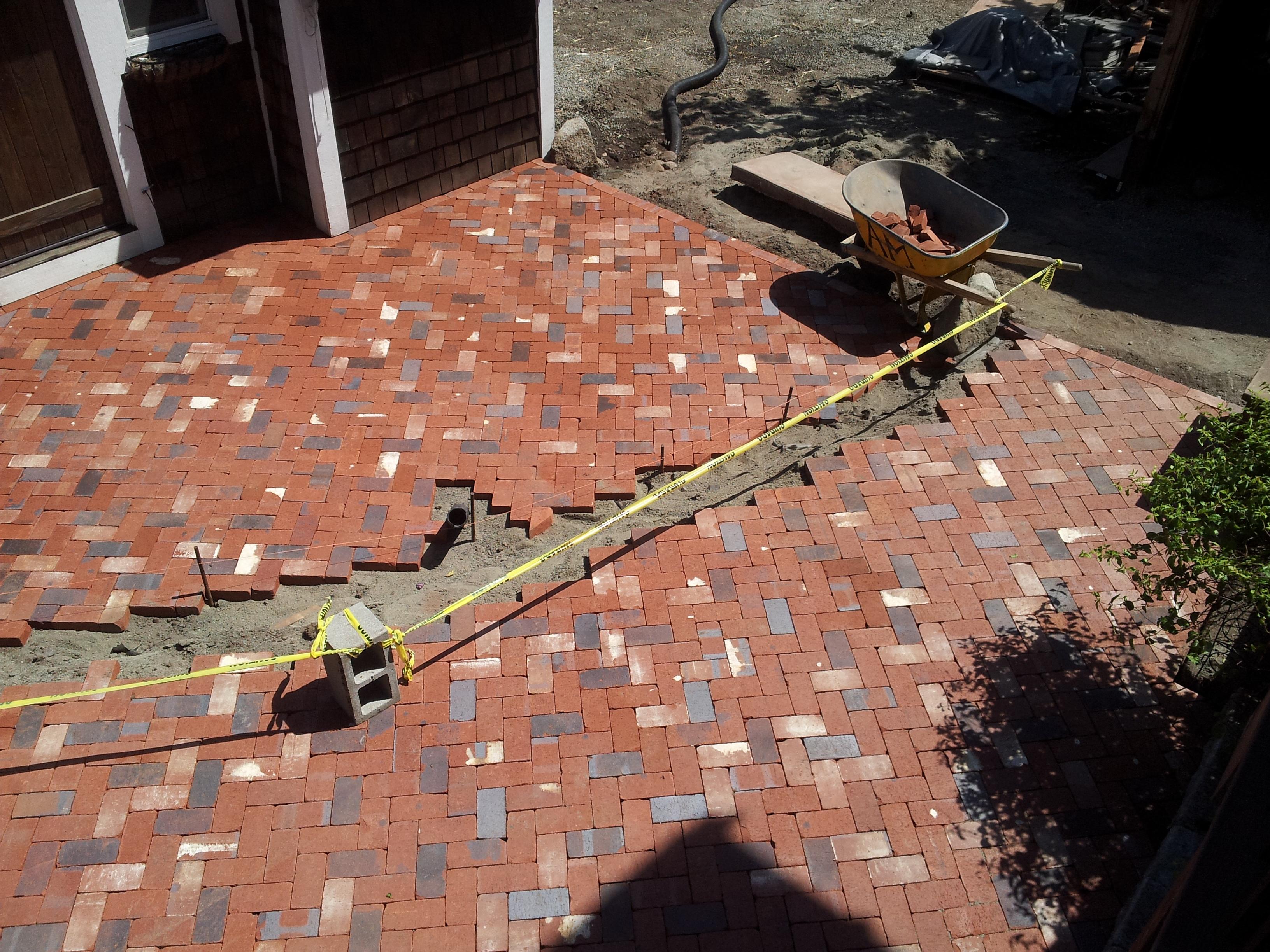 Herringbone Brick Patio Moving Right Along In Stellar Weather. Herringbone  1 Herringbone 2 ...